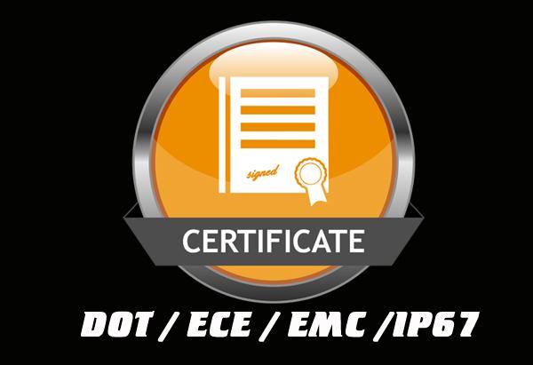 ECE / DOT / EMC / IP67